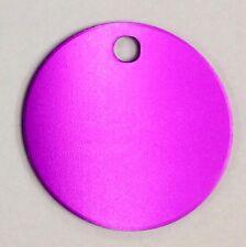 100 Bulk Id Wholesale Round Circle identification tags Anodized Aluminum #1Usa