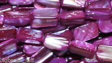 "String 16"" Shell Nuggets Fuchsia 15mm Beads"