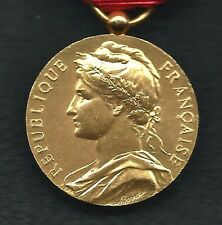 French Bronze Award Medal Republique Francaise M.GRIVES 1966. With BOX. M23b
