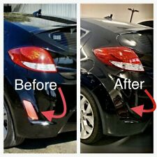 Hyundai Veloster Rear Reflector Black Out Laminate Tint Die Cut Kit 2014 +