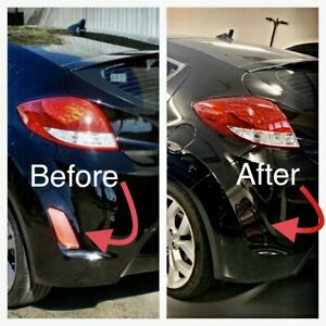 Fits Hyundai Veloster Rear Reflector Black Out Laminate Tint DieCut Kit 2014 +