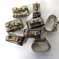 Set of 8 Metal Bow Napkin Rings Holders