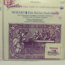 MOZART Eine Kleine Nachtmusik EX+ EVEREST 6114 VINYL LP *WILHELM SOMMER*