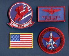 PETE MAVERICK MITCHELL TOP GUN MOVIE US NAVY F-5 Squadron Costume Patch Set