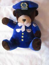 VINTAGE CUM COMMUNAUTE URBAINE MONTREAL QUEBEC CANADA Police Bear PLUSH doll Toy