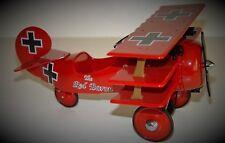 Red Air plane Pedal Car WW1 Vintage Aircraft TriWing Airplane Midget Metal Model