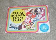 Ford Radio & Cassete Player Brochure Leaflet 1975