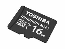 TOSHIBA M203 MICRO SD 16 GB CLASS 10 FLASH MEMORY CARD NEW st