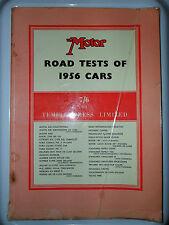 PARAMOUNT 1.5 LITRE ROADSTER  MOTOR ROAD TESTS 1956