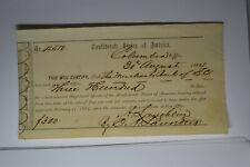 Interim Depository Receipt Columbia, (Sc)- $300 August 30, 1864 Tremmell Sc-66.