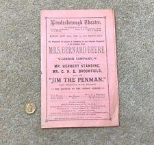 More details for 1886 jim the penman londesborough theatre scarborough programme #scar