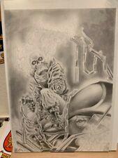 "Ghost Rider (11""x17"") original and unique 1/1 comic art by Rolim"
