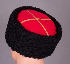 Red Army Russian Soviet USSR Cossack Hat Cap KUBANKA natural sheepskin Size 60