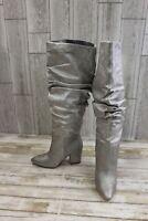 Nine West Scastien Boot- Women's Size 6.5 M, Silver Metallic