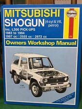 Haynes Mitsubishi Shogun 1983-1994 Workshop Manual Excellent Condition.