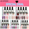10Pcs/Set MEET ACROSS Nail Dipping Powder Dip Liquid File Brush Starter Kit USA