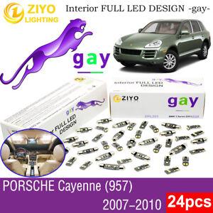 24 Bulbs Deluxe White LED Interior Light Kit For (957) 2007-2010 Porsche Cayenne