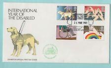 IDEAL HOME UFFICIALE COVER 1981 anno di disabilitare francobolli e timbro postale speciale