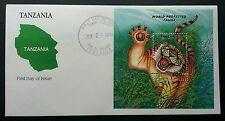 Tanzania World Protected Fauna 1994 Tiger Wildlife Mammal Big Cat (Fdc) *clean