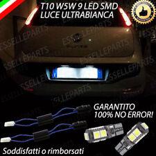 COPPIA LUCI TARGA A 9 LED FIAT PUNTO EVO T10 W5W CANBUS ULTRALUMINOSI