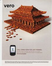AT&T 2010 magazine ad Confucius Temple China Pennies clipping telephone phone