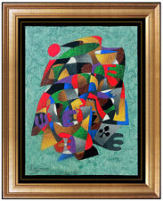Anatole Krasnyansky Original Acrylic Painting Abstract Signed Music Portrait Art