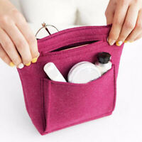 Portable Felt Fabric Purse Case Handbag Organizer Bag Multi Pocket Insert Women
