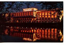 Marriott Motor Hotel-Night Reflection-Newton-Massachusetts-Vintage Adv Postcard