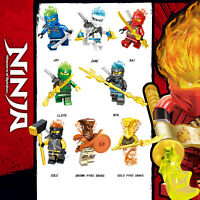 NEW Ninjago Season 11: Secrets of the Forbidden Spinjitzu 8pc Custom Set US SELL