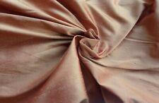 13 Mts  Silk  2 Tone Taffeta Curtain Dress Fabric Shimmery Terracotta & Gold