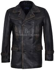 Men's Vintage Leather Jacket Black Vintage WW2 Inspired 100% Real Leather Dr-Who