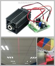 100mW Focusable 650nm Red Line Laser Diode Module w/ TTL & Fan Long-Time