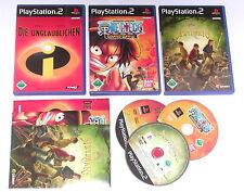 3 Spitzen KINDER Spiele für Playstation 2 z.B. UNGLAUBLICHEN; ONE PIECE; SPIDERW