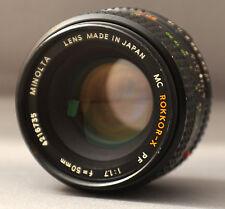 ROKKOR-X MC PF 50mm f1.7 Minolta Mount MD Camera Prime Lens Japan