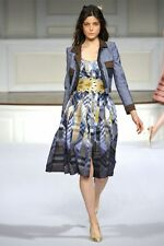 R'11 ICONIC FLIRTY CHIC Oscat De La Renta  plaid  ruffled cotton summer dress