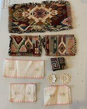 Dollhouse Miniature Table Crochet Plate Mats  Runner Rugs Pillow Lot