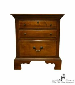 """SUMTER CABINET Solid Cherry Traditional Style 24"""" Three Drawer Nightstand 9305"""