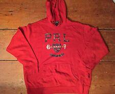 Rare Vtg Men's Red Polo Ralph Lauren Polo Jeans 67 Hoodie - Sz. L