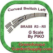 PIKO 35224 BRASS CURVED SWITCH R3-R4. G Scale Compatible w/LGB, Aristocraft, USA