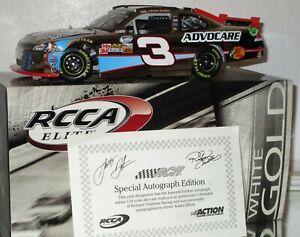 2012 RCCA Austin Dillon #3 Advocare AUTOGRAPHED WHITE GOLD ELITE car#23/33 W/COA