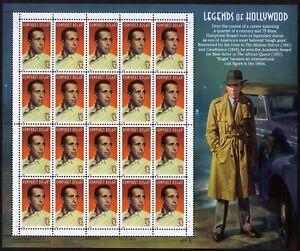 USA Sc# 3152 Actor HUMPHREY BOGART Legends of Hollywood Pane of 20 Stamps - MNH