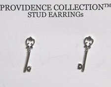 Alex and Ani Skeleton Key Sterling Silver Stud Post Earrings Precious Metal Coll