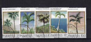 MAURITIUS SG686/90, 1984 PALM TREES SET, FINE USED