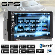 "7"" In Dash 2DIN Car Stereo FM Radio MP5 Player GPS Nav/MP3/MP4/USB/TF + Free Map"