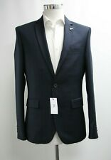 Men's Farah Skinny Fit Navy Blue Blazer (38R).. Ref: 7302