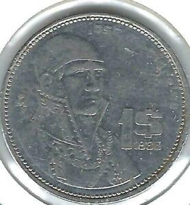 1986 Mexico Circulated One Peso Coin