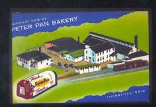 SPRINGFIELD OHIO PETER PAN BAKERY ADVERTISING POSTCARD COPY BAKING