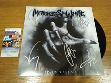 MOTIONLESS IN WHITE SIGNED DISGUISE black Chris JSA Vinyl LP autograph