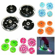 LED SCOOTER WHEEL SET FLASHING LIGHTS ABEC-7 COMPATIBLE WITH MAXI MICRO