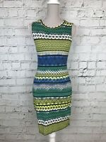 NEW LOOK - Yellow Green Multi Sleeveless Bodycon Dress - Girls - 12-13 Years